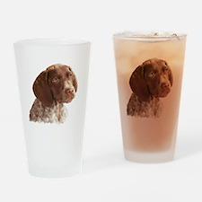 German Shorthair Puppy Drinking Glass