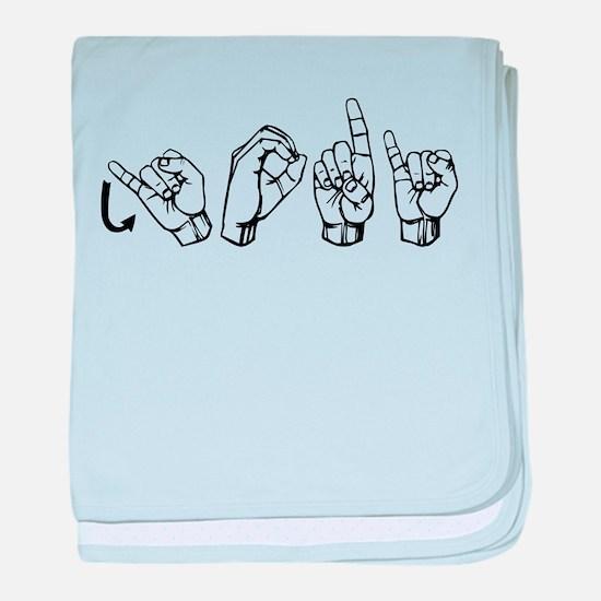 Jodi-ASL baby blanket