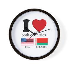 USA-BELARUS Wall Clock