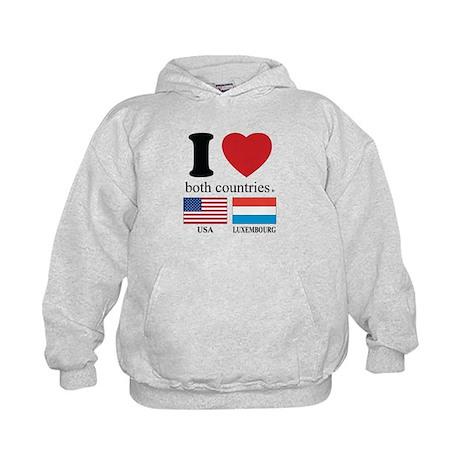 USA-LUXEMBOURG Kids Hoodie