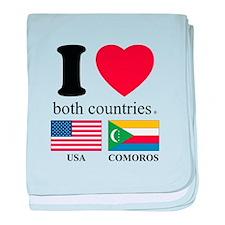 USA-COMOROS baby blanket