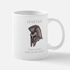 angry spartan Mug