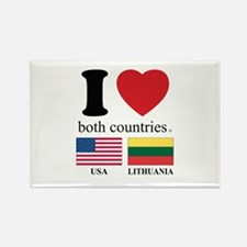USA-LITHUANIA Rectangle Magnet