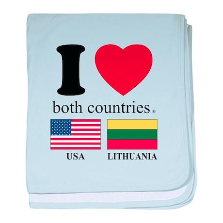 USA-LITHUANIA baby blanket