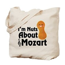 Nuts About Mozart Funny Tote Bag