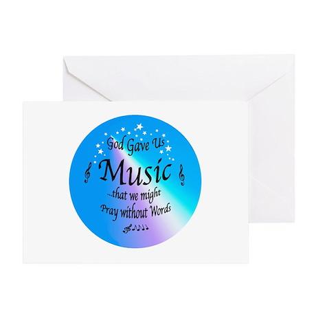 God Gave Us Music Christmas Card