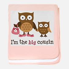 Big Cousin - Mod Owl baby blanket