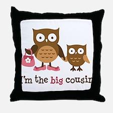 Big Cousin - Mod Owl Throw Pillow