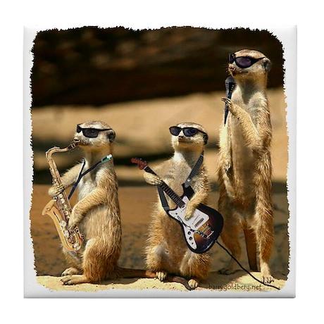 Meerkat Trio Tile Coaster