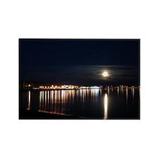 Grand Marais Moonrise over HarborRectangle Magnet
