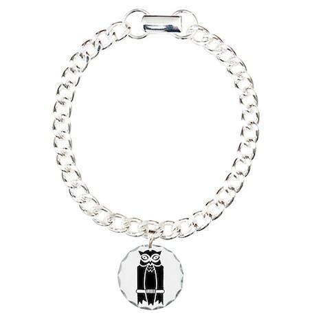 Owl Charm Bracelet, One Charm