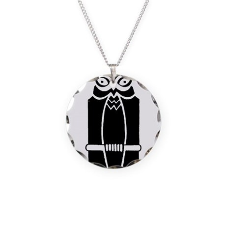 Owl Necklace Circle Charm