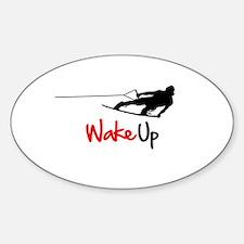 Wake Up Boarder Sticker (Oval)
