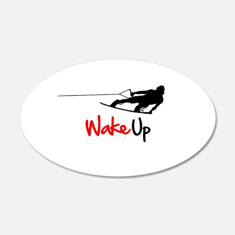 Wake Up Boarder 22x14 Oval Wall Peel