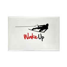 Wake Up Boarder Rectangle Magnet
