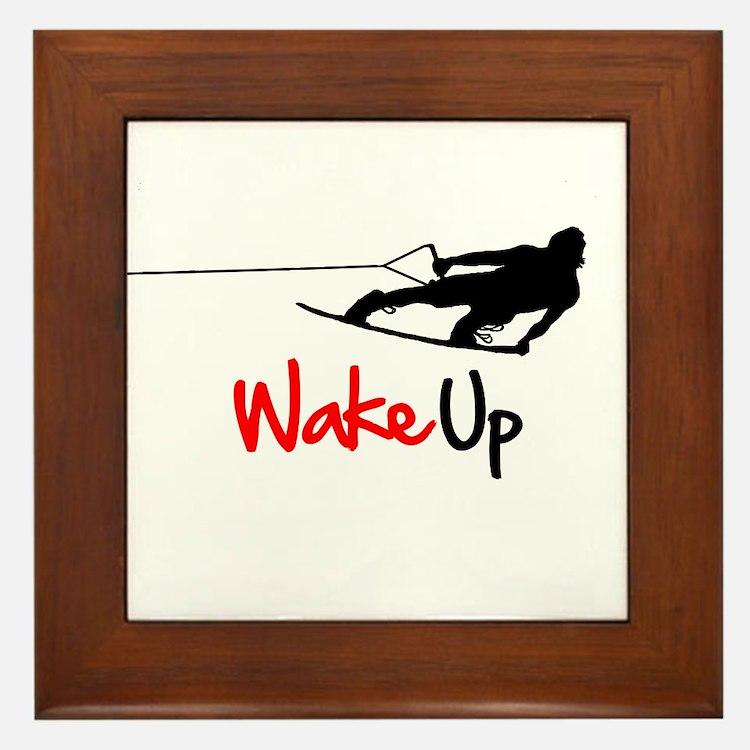 Wake Up Boarder Framed Tile