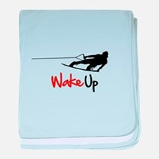 Wake Up Boarder baby blanket