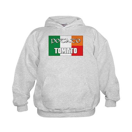 Potato Tomato Irish-Italian Kids Hoodie