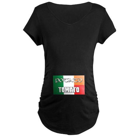 Potato Tomato Irish-Italian Maternity Dark T-Shirt