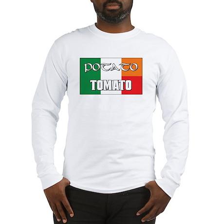 Potato Tomato Irish-Italian Long Sleeve T-Shirt