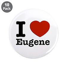 """I love Eugene 3.5"""" Button (10 pack)"""