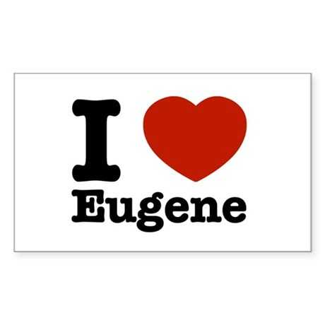 I love Eugene Sticker (Rectangle)