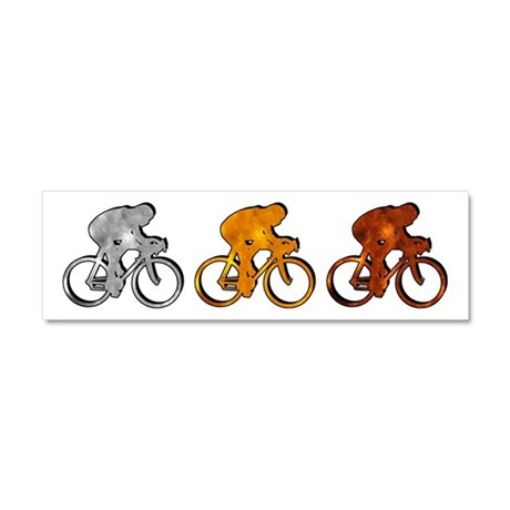 Cycling Car Magnet 10 x 3