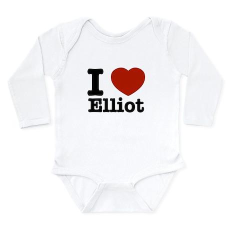 I love Elliot Long Sleeve Infant Bodysuit
