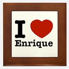 I love Enrique Framed Tile
