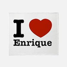 I love Enrique Throw Blanket