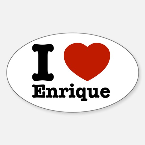 I love Enrique Sticker (Oval)