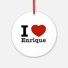 I love Enrique Ornament (Round)