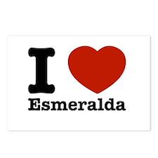 I love Esmeralda Postcards (Package of 8)