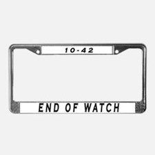 Unique Police License Plate Frame