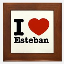 I love Esteban Framed Tile