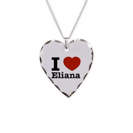 I love Eliana Necklace Heart Charm