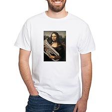 "euphonium Mona Lisa, da Vinci ""Musee du Louvre"" Wh"