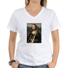 "trombone Mona Lisa, da Vinci ""Musee du Louvre"" Wom"