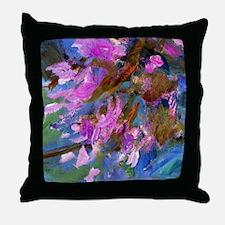 Monet - Agapanthus Bed Throw Pillow