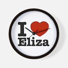 I love Eliza Wall Clock