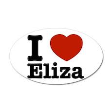 I love Eliza 22x14 Oval Wall Peel