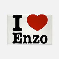 I love Enzo Rectangle Magnet