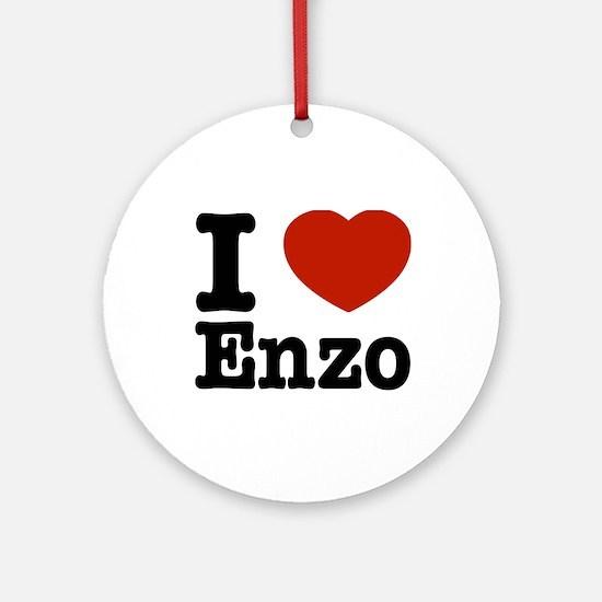 I love Enzo Ornament (Round)