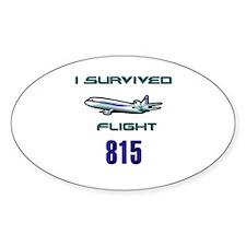 OCEANIC FLIGHT 815 Oval Decal