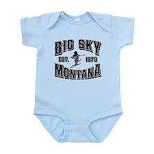 Big Sky Black & Silver Infant Bodysuit