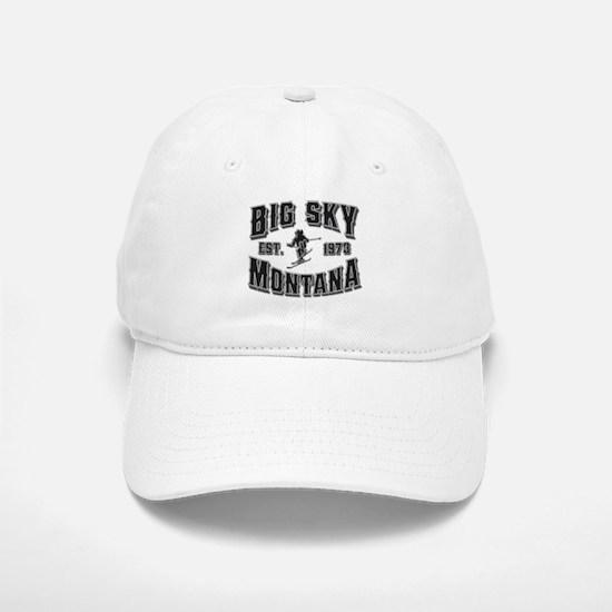 Big Sky Black & Silver Baseball Baseball Cap