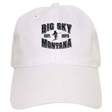 Big Sky Black & Silver Baseball Cap