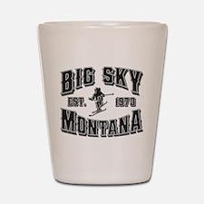 Big Sky Black & Silver Shot Glass