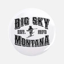 "Big Sky Black & Silver 3.5"" Button"