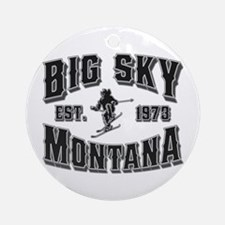 Big Sky Black & Silver Ornament (Round)